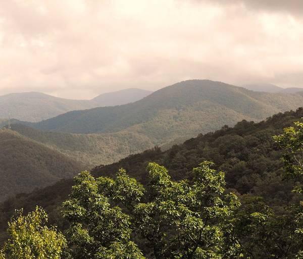 Mountains Art Print featuring the photograph Blue Ridge Overlook by Eva Thomas