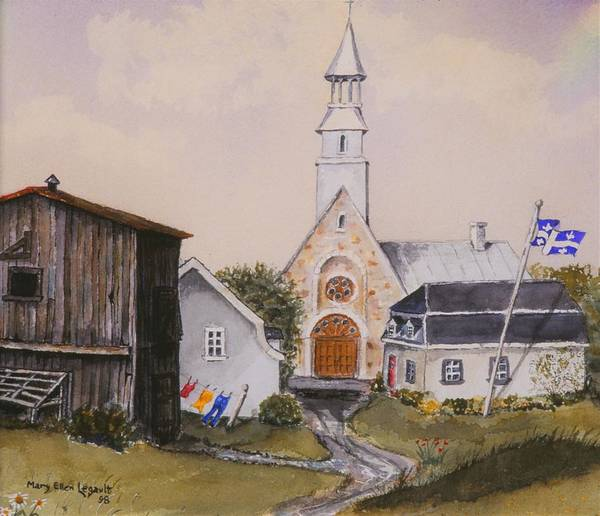 Landscape Art Print featuring the painting Charlevoix Quebec by Mary Ellen Mueller Legault