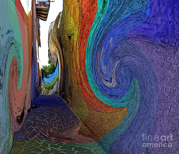 Malfa Art Print featuring the photograph Color Undertow by Ayesha DeLorenzo