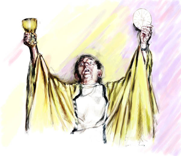 Priest Art Print featuring the painting Consecration by Robert Sako