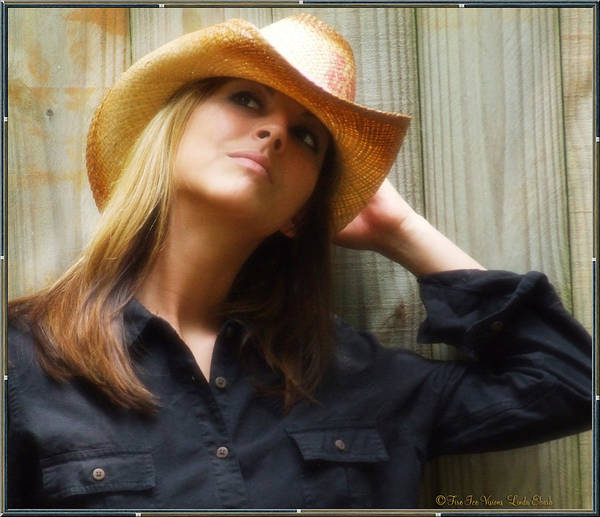 Cowgirl Art Print featuring the photograph Cowgirl by Linda Ebarb