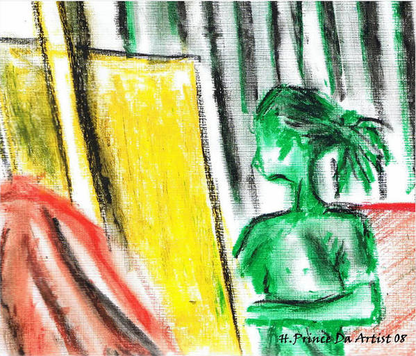Art Print featuring the mixed media Creating Master Peace by HPrince De Artist