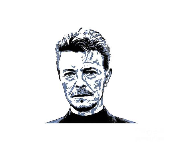 David Bowie Art Print featuring the painting David Bowie Collection - 5 by Sergey Lukashin