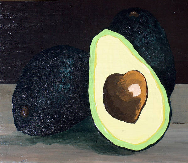 Avocado Art Print featuring the painting Delicious by Racquel Morgan
