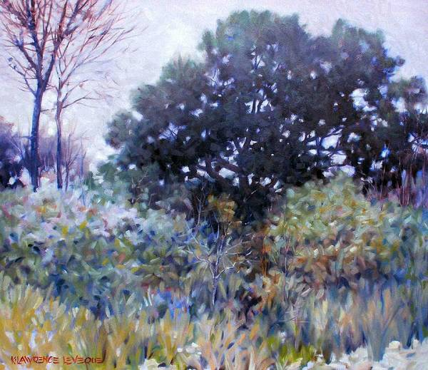 Landscape Art Print featuring the painting Empty Lot by Kevin Lawrence Leveque