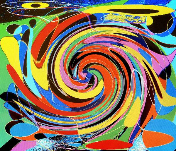 Art Print featuring the digital art Escaping The Vortex by Ian MacDonald
