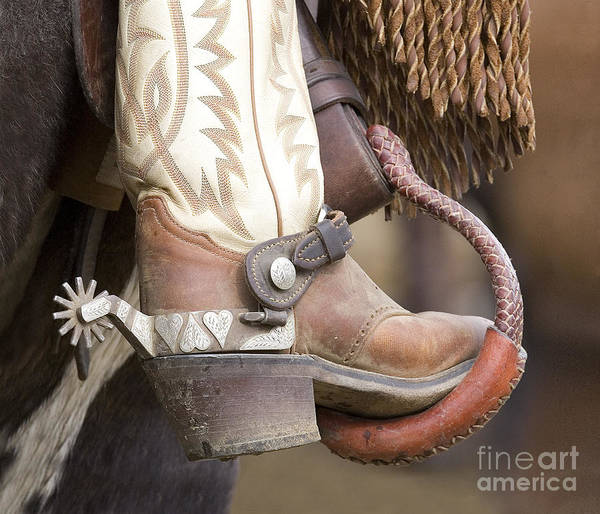 Cowboy Art Print featuring the photograph Fancy Foot by Carol Walker