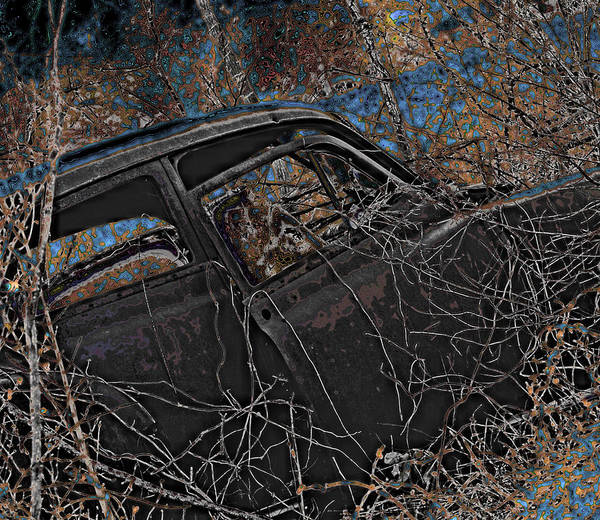 Car Art Print featuring the photograph Forgotten Classic by Karen Fowler