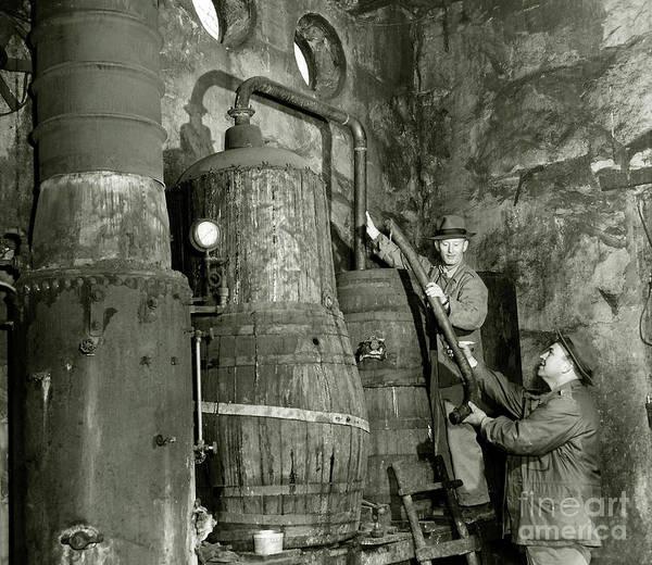 Prohibition Art Print featuring the photograph Dismantling The Still by Jon Neidert