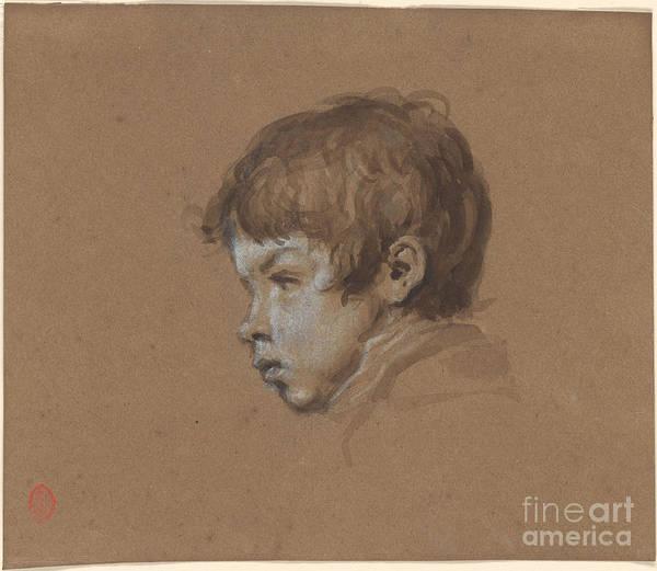Ricardo De Los Rios 1846-1929 Head Of A Boy. Painting Art Print featuring the painting Head Of A Boy by MotionAge Designs