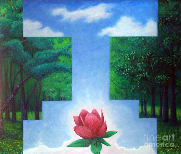 Spiritual Art Print featuring the painting Inner Bliss by Brian Commerford
