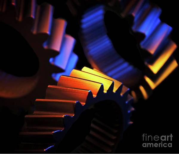 Gears Art Print featuring the photograph Inner Workings by Chris Fleming