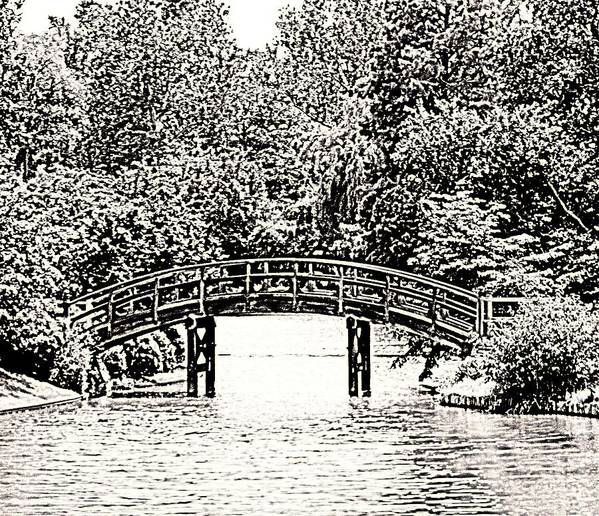 Bridge Art Print featuring the photograph Lake Bridge by Rodger Mansfield