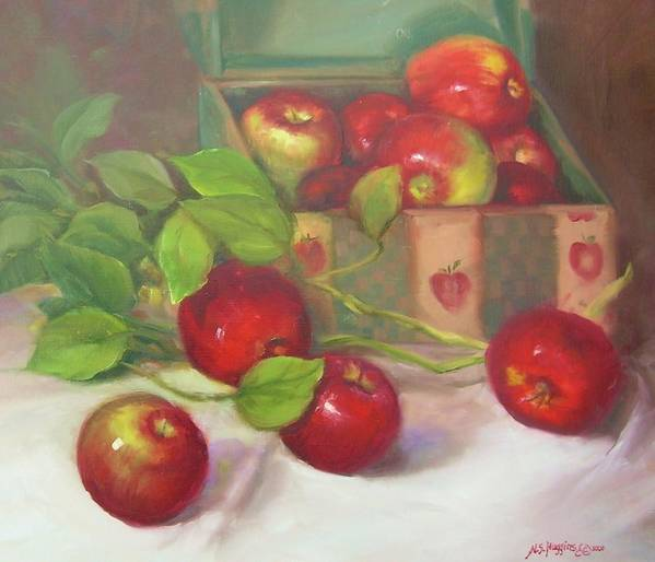 Apples Art Print featuring the painting Macs 'n' A Box by Naomi Dixon