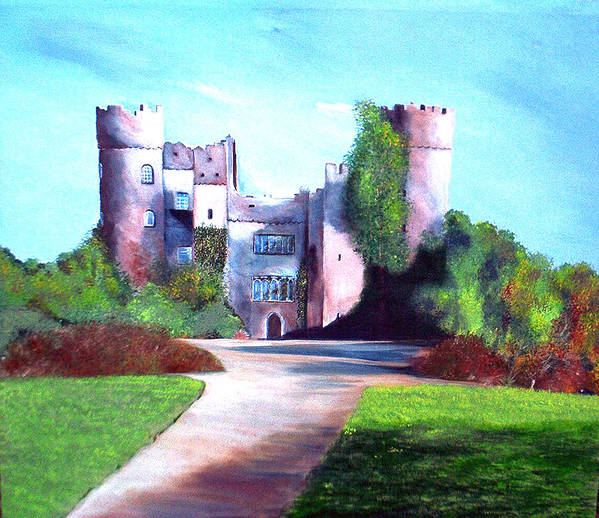 Landscape Art Print featuring the painting Malahide Castle by Julie Lamons