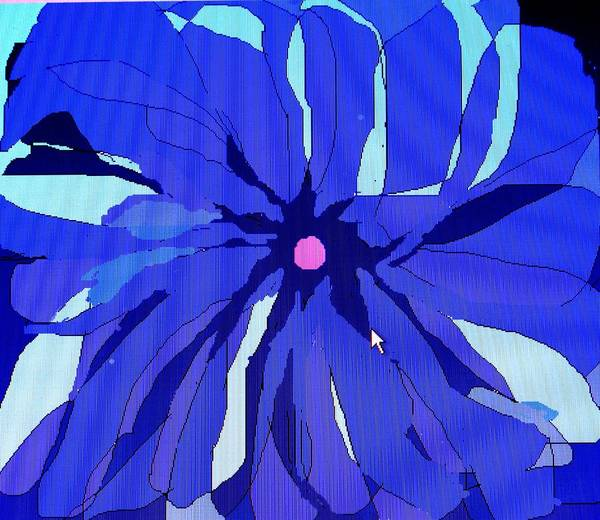 Flower Art Print featuring the digital art My Fantastic Flower by Ian MacDonald