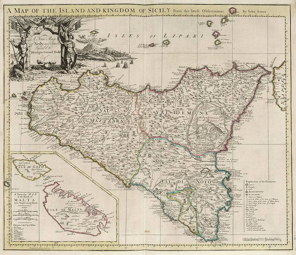 image regarding Printable Map of Sicily referred to as Fresh new Map Of Sicily Artwork Print