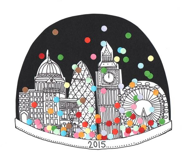 Happy New Year Art Print featuring the drawing New Year by Isobel Barber