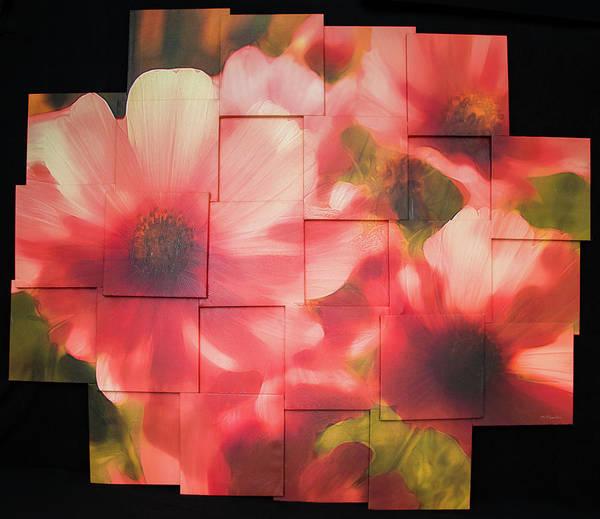 Flower Art Print featuring the sculpture Nocturnal Pinks Photo Sculpture by Michael Bessler
