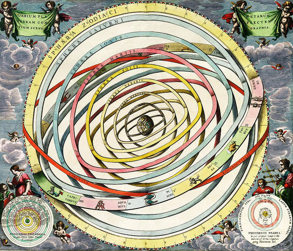 Science Art Print featuring the photograph Planetary Orbits, Harmonia by Science Source