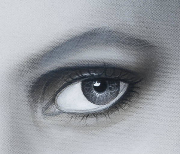 Eye Art Print featuring the painting Reflections Eye by Joshua South