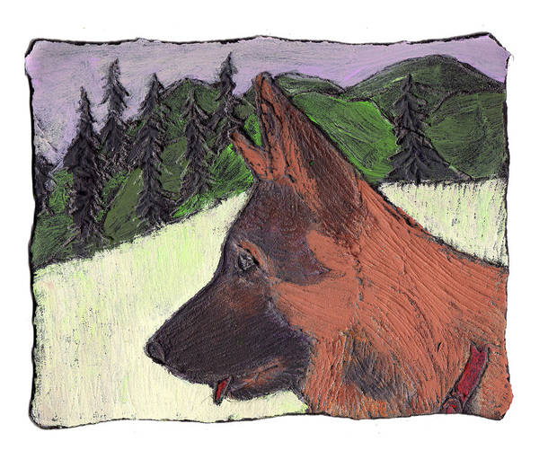Dog Art Print featuring the painting Sarge by Wayne Potrafka