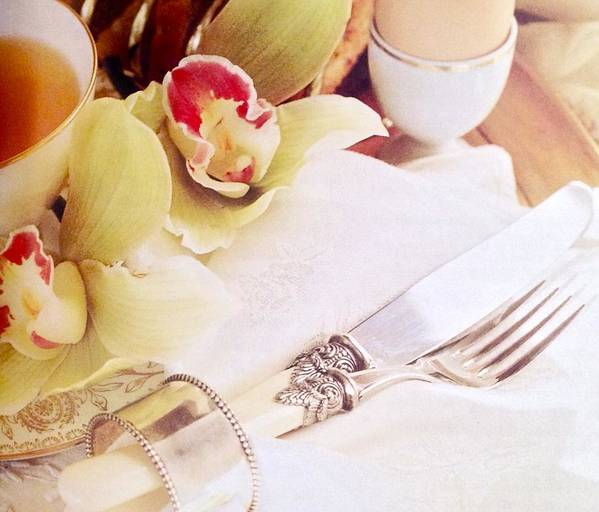 Art Print featuring the photograph Silver Service Breakfast Setting by Jacqueline Manos