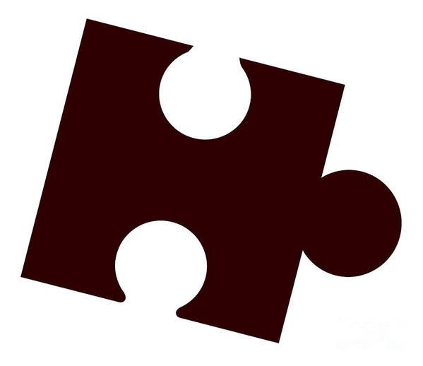 Jigsaw Art Print featuring the digital art Single Jigsaw Piece by Bigalbaloo Stock