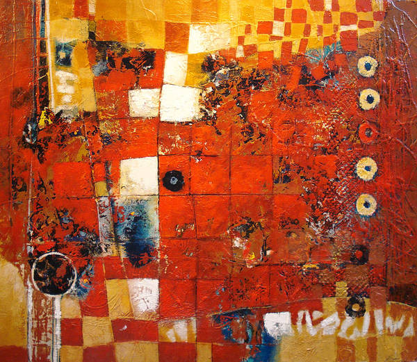 Checkerboard Art Print featuring the painting Squared Off by Dale Witherow