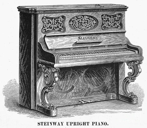 1878 Art Print featuring the photograph Steinway Piano, 1878 by Granger