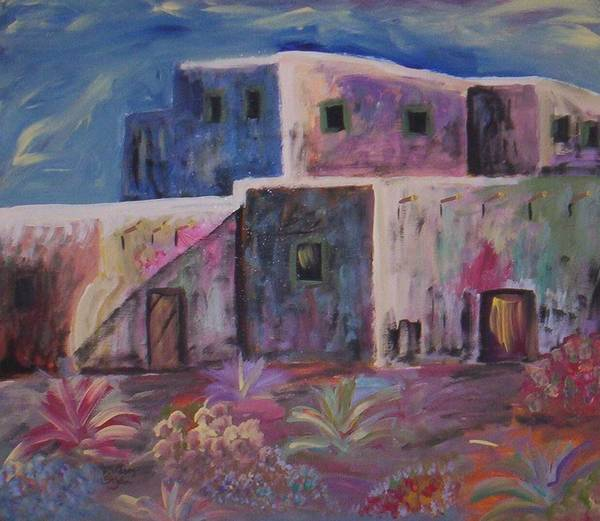 Landscape Art Print featuring the painting Santa Fe Dreams by Lindsay St john