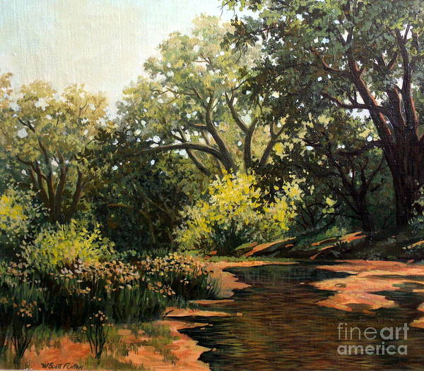 Landscape Art Print featuring the painting Study Of Michael Stack by W Scott Fenton