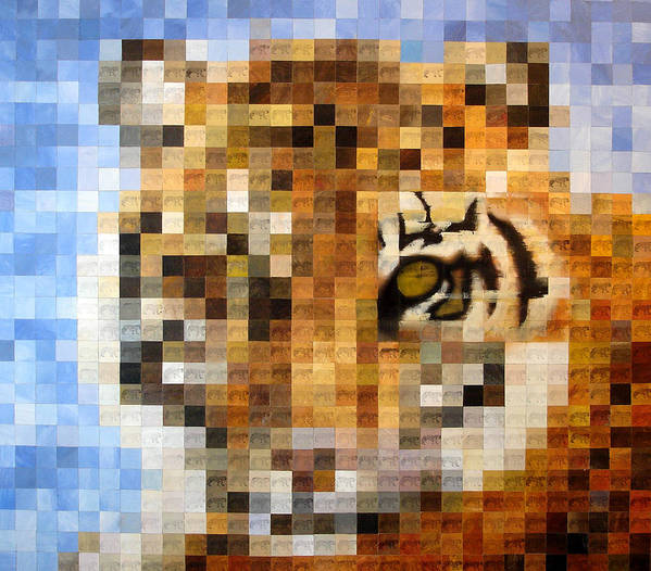 Wild Animals Art Print featuring the painting About 400 Sumatran Tigers by Charlie Baird
