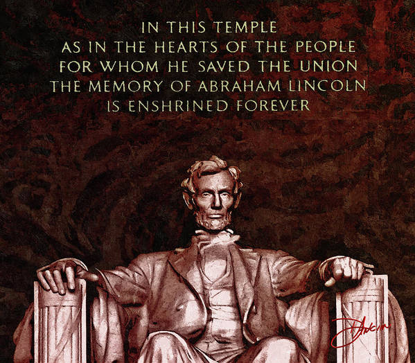Abraham Art Print featuring the photograph Abraham Lincoln by Dancin Artworks