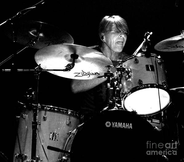 Adam Woods Print featuring the photograph Adam Woods - Drummer - The Fixx by Anthony Gordon Photography