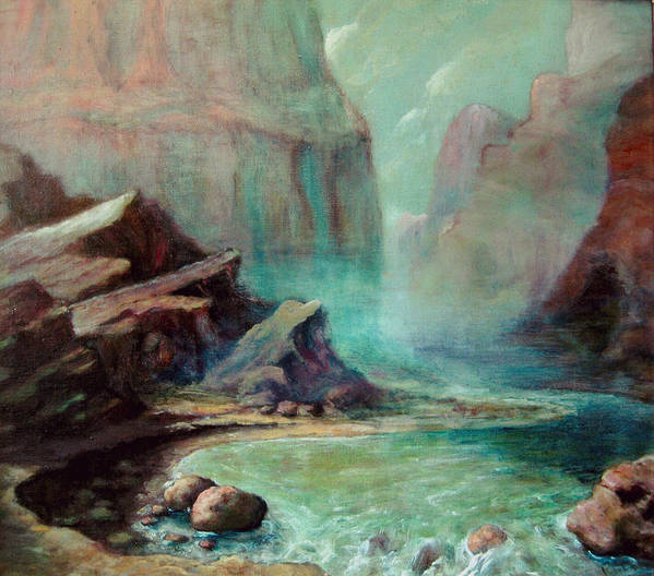 Art Print featuring the painting Green River by Kitty Meekins