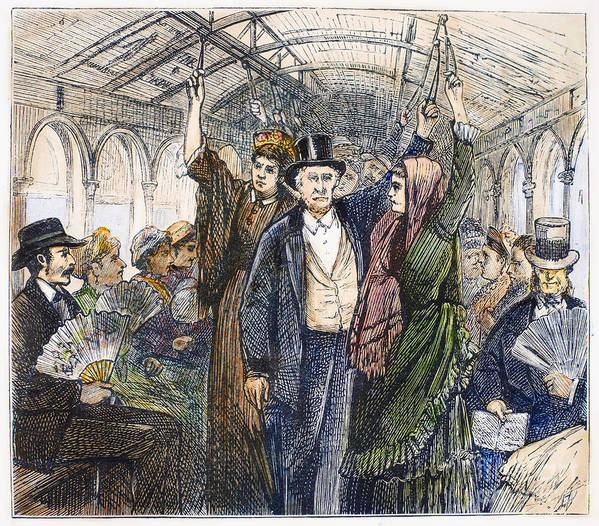 1876 Art Print featuring the photograph Streetcar, 1876 by Granger