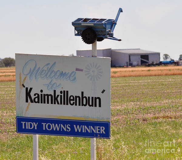 Tidy Town Photographs Art Print featuring the photograph Kaimkillenbun Sign by Joanne Kocwin