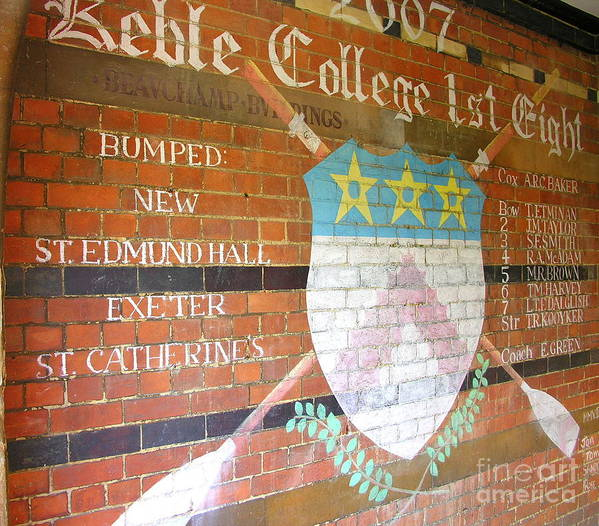 Keble College Art Print featuring the photograph Keble College 2007 Rowing Standings by Anne Gordon