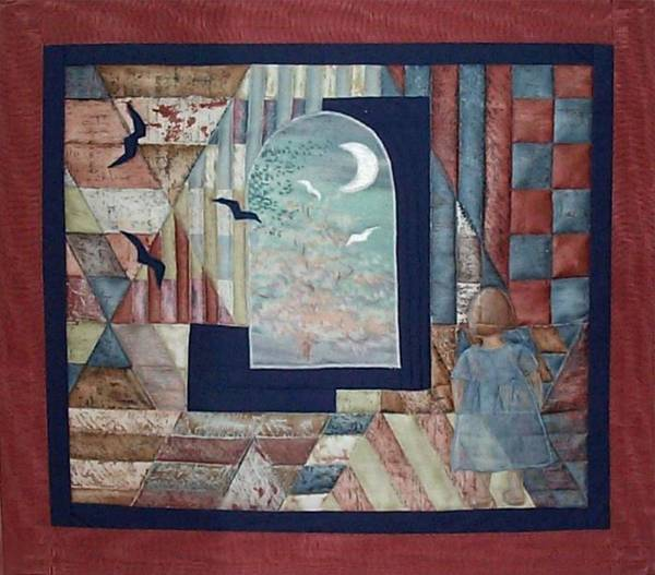 Collage Art Print featuring the tapestry - textile There Is A Place... by Gun Legler
