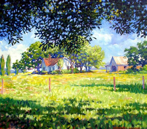 Country Art Print featuring the painting Jasons House by Kevin Lawrence Leveque
