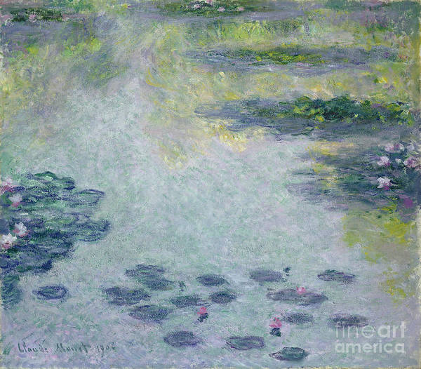 Waterlilies Art Print featuring the painting Waterlilies by Claude Monet