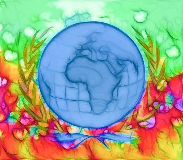 3d Render Of Planet Earth Art Print featuring the digital art 3d Render Of Planet Earth 17 by Jeelan Clark