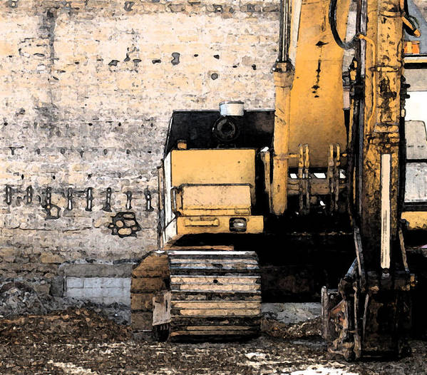 Construction Art Print featuring the photograph Excavator by Gary Everson
