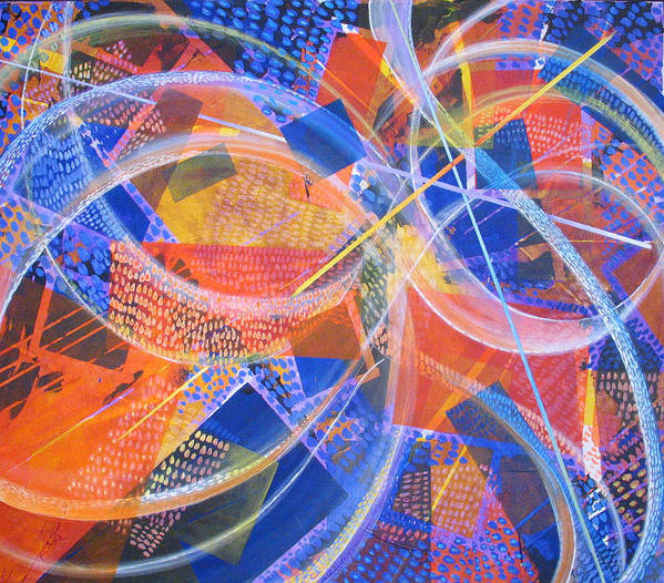 Non-representational Art Print featuring the painting Microcosm Xiii by Rollin Kocsis