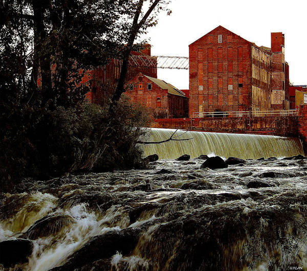 Water Art Print featuring the photograph Old River Dam In Columbus Georgia by Ruben Flanagan