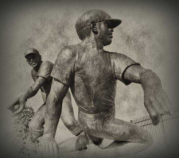 Baseball Art Print featuring the photograph Stealing Third by Bill Cannon