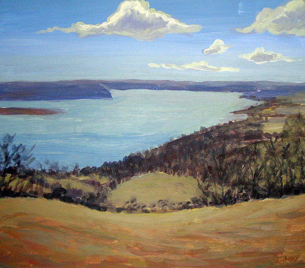 Landscape Art Print featuring the painting Susquehanna River View by Evelynn Eighmey