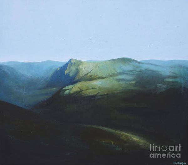 Lin Petershagen Print featuring the painting The View From Mount Tron by Lin Petershagen
