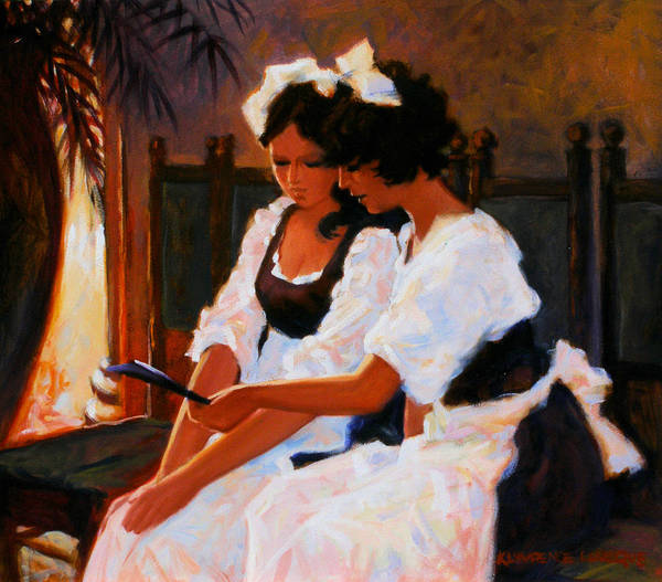 Interior Scene Art Print featuring the painting Today's Special by Kevin Lawrence Leveque